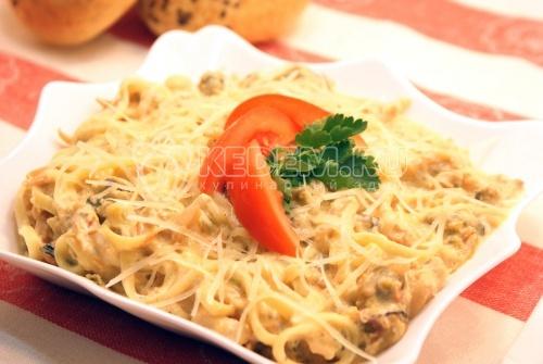 Рецепт Фетучини с морепродуктами