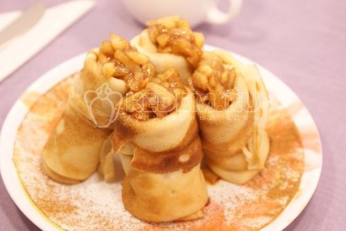 Рецепт Блинчики с яблоками и корицей