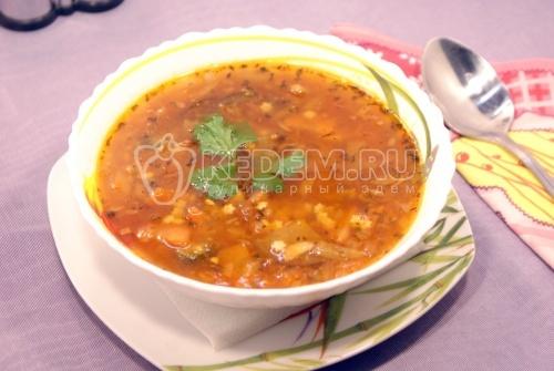 Рецепт Овощной суп с баклажанами
