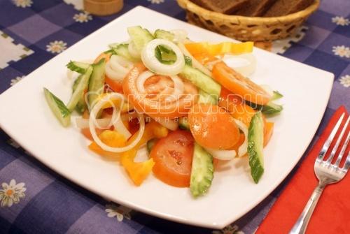 Рецепт Овощной салат с маслом