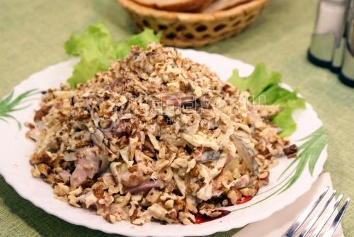 Салат «Принц». Пошаговый кулинарный рецепт с фотографиями приготовления салата с копченой курицей