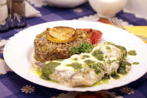 Рецепт Судак в сливочном соусе