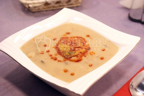 Крем-суп с шампиньонами - рецепт