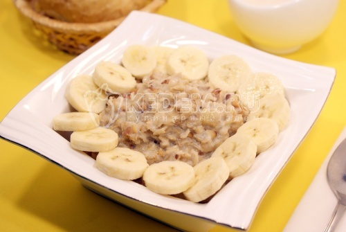 Рецепт Овсяная каша с бананом