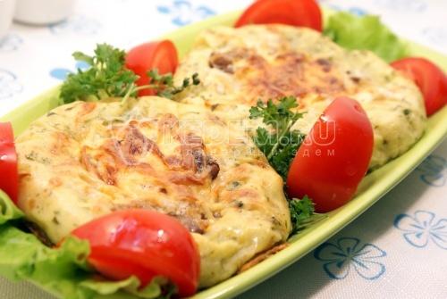 Картофельные гнёзда с опятами - рецепт