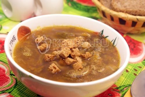 Рецепт Грибной суп со сморчками и чечевицей