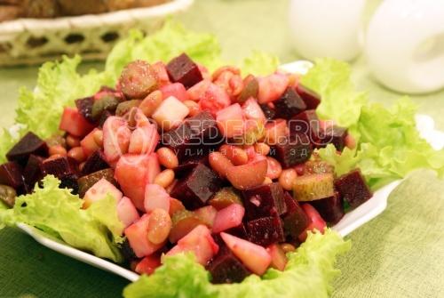 С фасолью салаты овощные салаты