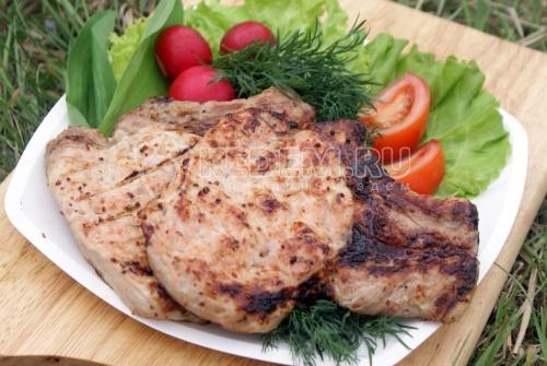 Рецепт Стейки из свинины на гриле