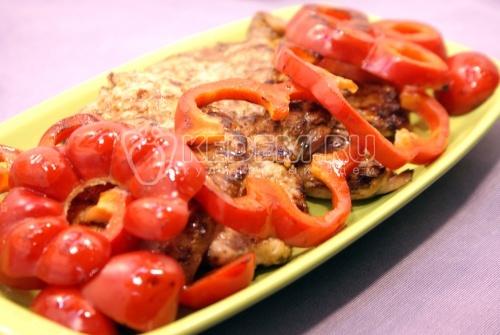 Рецепт Куриное филе с болгарским перцем