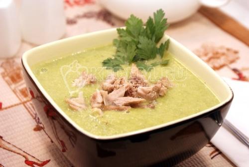 Рецепт  Крем-суп из зелёного горошка и брокколи