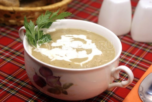 Рецепт Сливочный суп-пюре из цуккини