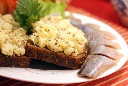 Рецепт Бутерброды с картофелем