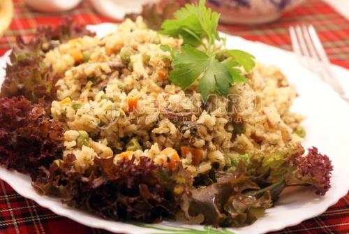 Рецепт Рис с морепродуктами в мультиварке