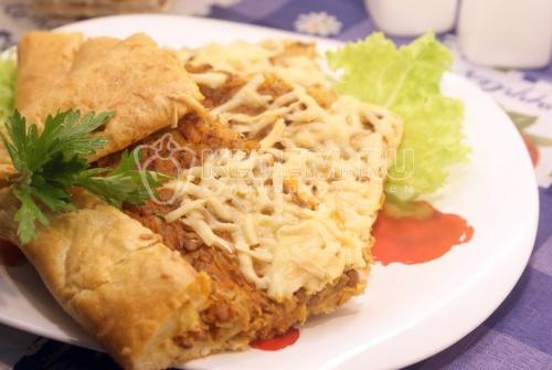 Рецепт Пирог с капустой и чечевицей