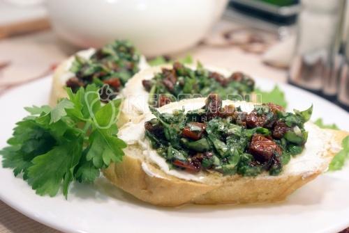 Рецепт Бутерброды с зеленью и творожным сыром
