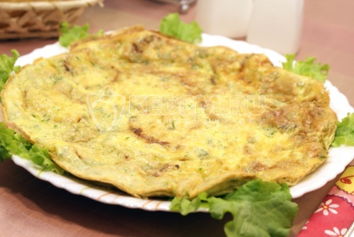 Рецепт Кабачки с яйцом в духовке