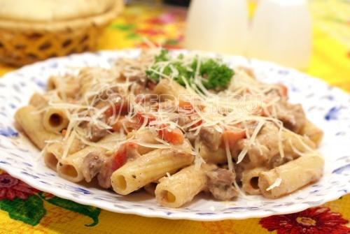 Рецепт Макароны с мясом и овощами