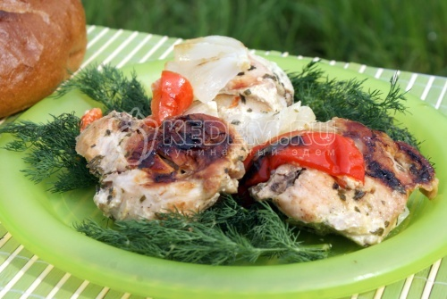 Рецепт Курица в фольге на углях