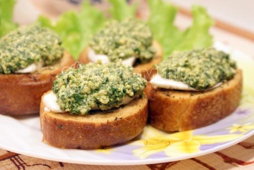 Рецепт Горячие бутерброды с кешью