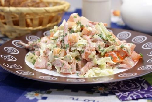 Салаты с морепродуктами и пекинской капустой рецепт 111