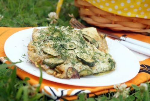 Жареные кабачки с яйцом