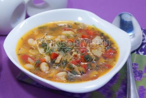 Суп «Минестроне» с фасолью и беконом - рецепт