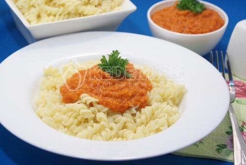 Овощной соус с томатами к пасте