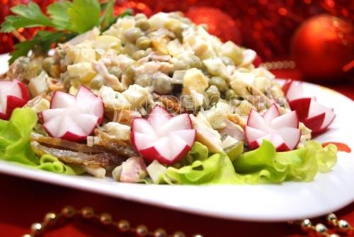 салаты на новый год 2012 с фото и рецепты