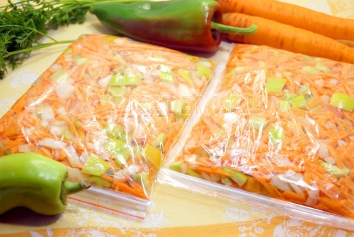 Заморозка овощей на зиму для гарнира
